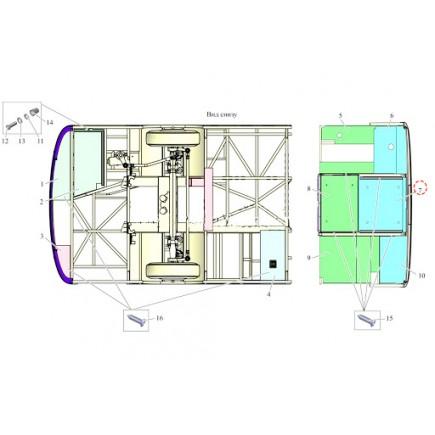 Панель защитная задняя 206060-8408140