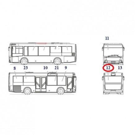 Стекло 256-5603082 заднее МАЗ-256