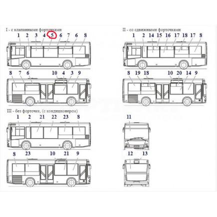 Стекло 206060-5603082 заднее МАЗ-206