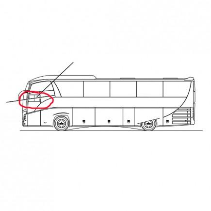 Стекло 203065-5403052 подвижное голое водителя