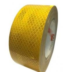 Лента светоотражающая желтая 20м*5см