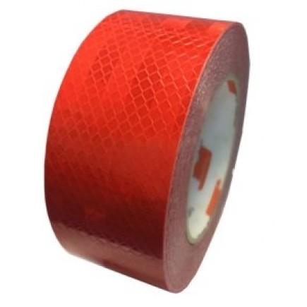 Лента светоотражающая красная 20м*5см