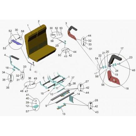 Механизм регулирования спинки 151-6844022