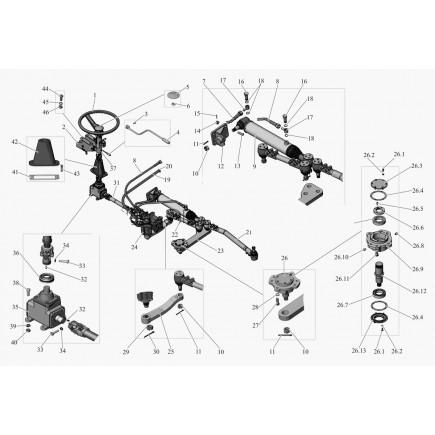 Механизм рулевой 104-3400008-01